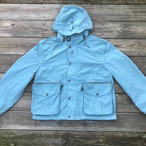 Burberry Men Jacket Hooded Coat  Light Blue Rain C
